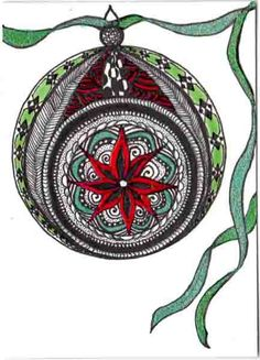 Christmas Zentangle swap - Ornament | Flickr - Photo Sharing!