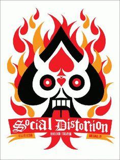 Social Distortion Boulder 2010 Concert Poster MINT