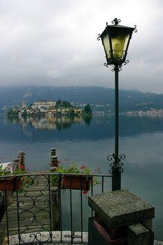 Orta San Giulio, province of Novarra, Piedmont, ITALY. Orta lake
