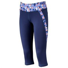 087c8f1a51 NWT Women TEK GEAR Drytek Capri Yoga Workout Legging Fitted Size XS Gray  Printed