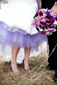I searched everywhere for the most perfect dark purple or black tulle for under my dress...