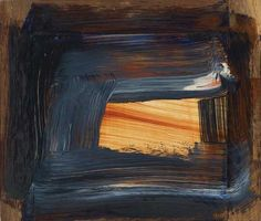 blastedheath: Howard Hodgkin (American, b. Day into Night, Oil on panel, x 53 cm. via killthecurator Famous Abstract Artists, Howard Hodgkin, Picasso Paintings, Abstract Paintings, Gagosian Gallery, Meditation Art, Art Archive, Contemporary Paintings, Abstract Expressionism