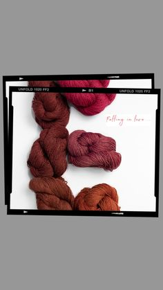 Fall in love with our yarns Yarns, Falling In Love, Fashion, Atelier, Moda, Fashion Styles, Fashion Illustrations