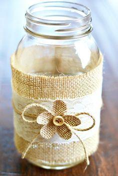 mason jar burlap craft | Mason-jar-centerpieces-Crafts-Unleashed-4