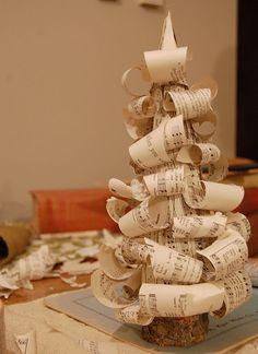 sheet-music Christmas tree tutorial
