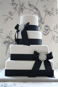 This classy cake comes in a square or circular shape – or you can mix up the two. This elegant cake will look stunning however you choose to present it, and it would also work beautifully at a black tie or monochrome-themed wedding.Click here to see more of the hitched.co.uk top 10 wedding cakes for May 2011.