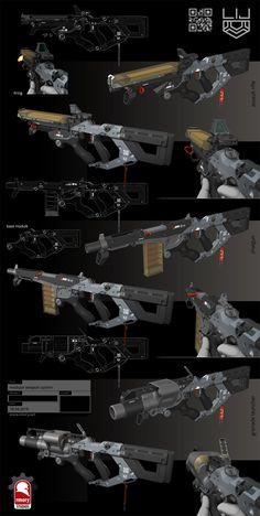 ArtStation - Modular Weapon System, Kris Thaler