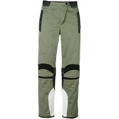 Rag & Bone panelled biker trousers ($490) ❤ liked on Polyvore featuring pants, green, rag bone pants, green pants, green trousers, panel pants and bike pants