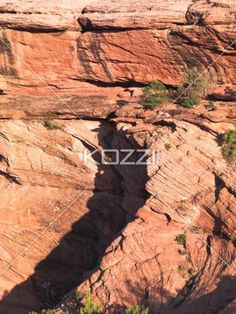 high angle view of sandstone cliff. - High angle shot of sandstone cliff.