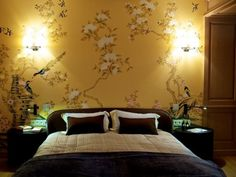 #PascalDelmotte #interiordesign #home #design #decorating #residentialdesign #homedecor #colors #decor #designidea #bed #wallpaper Home Design, Interior Design, Sweet Dreams, Bedrooms, Wallpaper, Furniture, Color, Ideas, Home Decor