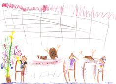 """""""Kerstdiner met 'kip'"""" (5 jaar)"""