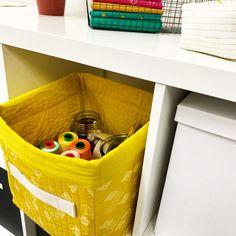 Fabric Storage Bin Tutorial | WeAllSew