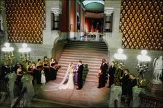 Ceremony on the Grand Staircase in the Historic Landmark Building at PAFA - Pennsylvania Academy of the Fine Arts.