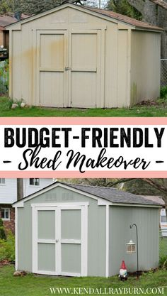 Before Amp After Simple Upgrades Wake Up 5 Tired Sheds In 2019 Lawn Garden Bob Vila
