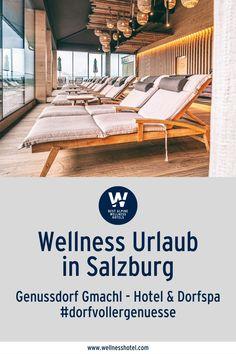 Wir vom Gmachl finden, ein Dorf ist ein guter Ort, um dem Leben wieder neue Frische zu geben. In unserem völlig neu konzipierten Dorf Spa im Wellness- und Spa-Hotel Genussdorf Gmachl wollen wir das Gefühl für unsere Wurzeln wieder stärken. Denn wie bei einer Lilie sind auch bei uns Menschen die Wurzeln unsere Lebensader. Verantwortlich für unsere tägliche Frische und Energie. Spa Hotel, Hotels, Outdoor Decor, Home Decor, Country Stores, Salzburg Austria, Ski Resorts, Filling Station, Lily