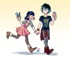 Marinette and Luka I don't ship them but this is cute