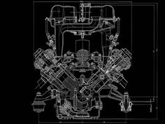 Chryslerhemiv8engines this cross section shows good ports ferrari 456 m engine blueprint smcars car blueprints forum malvernweather Gallery