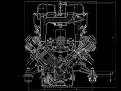 Harley davidson 45ci engine blueprint by blueprintplace on etsy ferrari 456 m engine blueprint smcars car blueprints forum malvernweather Choice Image