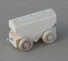 Coche de grano de madera natural por Aero1Toys en Etsy