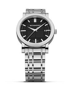 burberry watch with black dial $395