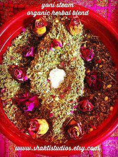 Organic YONI STEAM Herbal Blend herbs Vaginal V Steam Bath Blend 1 oz one ounce all purpose detox toning balancing womb wellness blend Yoni Steam Herbs, V Steam, Steam Bath, Organic Herbs, Herbalism, The Cure, Remedies, Menstrual Cycle, Health