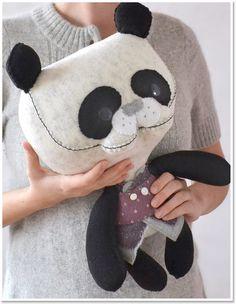 Handmade Toys, Softies, Plush, Animals, Panda by Marie Chou