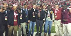 Pic: Alabama's 2015 recruiting class at the Iron Bowl.  Alabama's 21-man 2015 class currently holds a commanding 31-point lead over second place Florida State as the nation's top ranked group according to the industry-generated 247Sports Team Ranking.