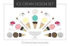 [Limited Time SaIe] Ice Cream Design Graphics **Limited time sale! Snag this deal before the ice cream melts!** This set of **37 ice cream files by Studio Meraki