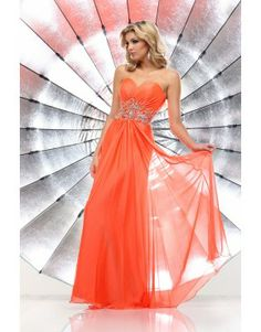 2014 Charming Style Sweetheart A Line Beaded  High Quality Prom Dress Orange
