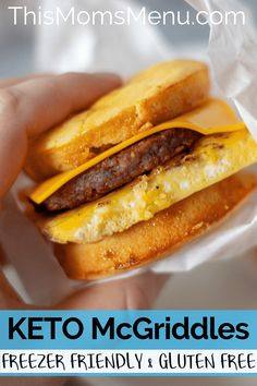 Keto McGriddles Easy to make and freezer friendly for a low carb grab and go breakfast the entire family will love Keto Diet List, Starting Keto Diet, Ketogenic Diet Plan, Diet Plan Menu, Diet Food List, Diet Foods, Food Lists, Dukan Diet, Ketogenic Foods