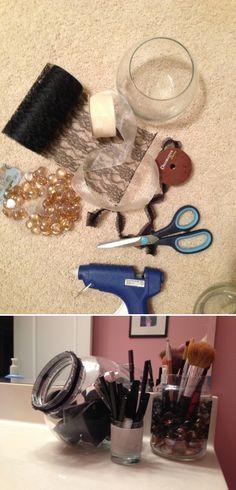 Easy (and adorable) DIY MakeUp Storage