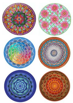 Mandalas copied from the net.