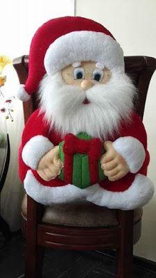 Best 12 Molde papai noel para imprimir - Criativo Ok Christmas Chair, Christmas Soap, Christmas Crafts To Make, Felt Christmas Decorations, Christmas Sewing, Christmas Makes, Christmas Projects, Xmas, Christmas Ornaments