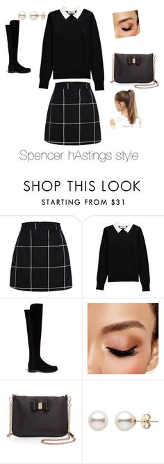 """Spencer Hastings style"" by camille-lajoie on Polyvore featuring Essentiel, Stuart Weitzman, Avon, Ted Baker and NIKE"