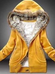Ladylike Casual  Long Sleeve Cotton  Hoody Hoodies from stylishplus.com