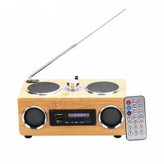 >> Click to Buy << Bamboo Environmental Friendly Stereo Speaker With Remote Control FM Radio TF Card Support Portable Speaker Music HIFI Speaker #Affiliate