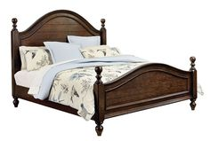 Heritage Whiskey Brown Queen Poster Bed