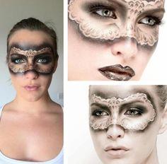 Schminktipps Fasching maske zeichnen spitze