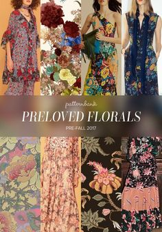 See by Chloé / Flowers by Li Nune / Diane Von Furstenberg / Raquel Allegra / Eden Garden – Romantic Flower Pattern by Oana Soare / See by Chloé / Traditional French Jacobean Floral by Nikita Coulombe / Gucci