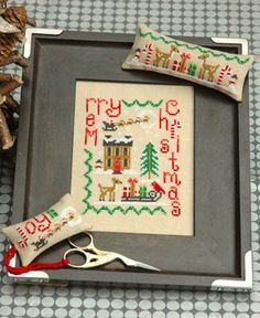 $14.39 + $2.49 shipping within the U.S. Christmas Trio - Cross Stitch Pattern