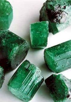 Emeralds are gem-quality beryls which are green to blue-green