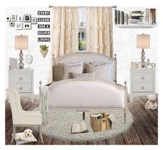 """cream bedroom"" by nonanana ❤ liked on Polyvore featuring interior, interiors, interior design, home, home decor, interior decorating, Thomsen Paris, Currey & Company, TemaHome and Casetify"