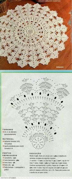 Lido tejido a crochet