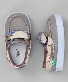 Gray Desert Snake Eye Benten Boat Shoe