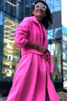 We have updated our coat collection! Hurry up on our website and purchase your new outerwear piece. Helmut Lang, Wool Coat, Bright Pink, Winter Coat, Coats For Women, Your Favorite, Wool Blend, Website, Long Sleeve