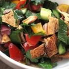 Fattoush is a much loved Lebanese salad, perfect summer fare. This recipe uses two unusual ingredients: sumac and purslane. Sumac, usually sold ground, is ground red berries and purslane is a popular green eaten throughout the Mediterranean. Salad Recipes, Lebanese Salad, Great Recipes, Favorite Recipes, Mashed Potato Recipes, Lebanese Recipes, Armenian Recipes, Cooking Recipes, Chopped Salads