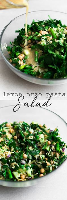 Recipes Snacks Vegan A delicious, fresh and bright Vegan Lemon Orzo Salad with Chickpeas. Ready in under 30 minutes and bursting with fresh Veggies and Herbs. The perfect lunchbox meal! Orzo Recipes, Vegetarian Recipes, Healthy Recipes, Vegetarian Salad, Healthy Desserts, Chicken Recipes, Lunch Box Recipes, Whole Food Recipes, Lunch Ideas