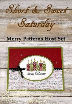 Complete instructions included in the post - Stampin' Up! Merry Patterns & Vintage Crochet Trim handmade Christmas card - S&SS - Find out how to get the Vintage Crochet Trim Free from me, and how to get the Merry Patterns Stamp Set Free from Stampin' Up! - Create With Christy - Christy Fulk, Independent SU! Demo