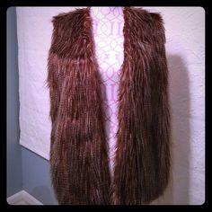 NEW super cute vest Faux fur super cute vest. Although it's an XL it will fit most pink republic Jackets & Coats Vests