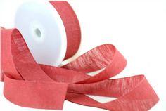 Varie - Nastro di Tessuto di Lino Rosso mm.25 mt.10 - un prodotto unico di raffasupplies su DaWanda